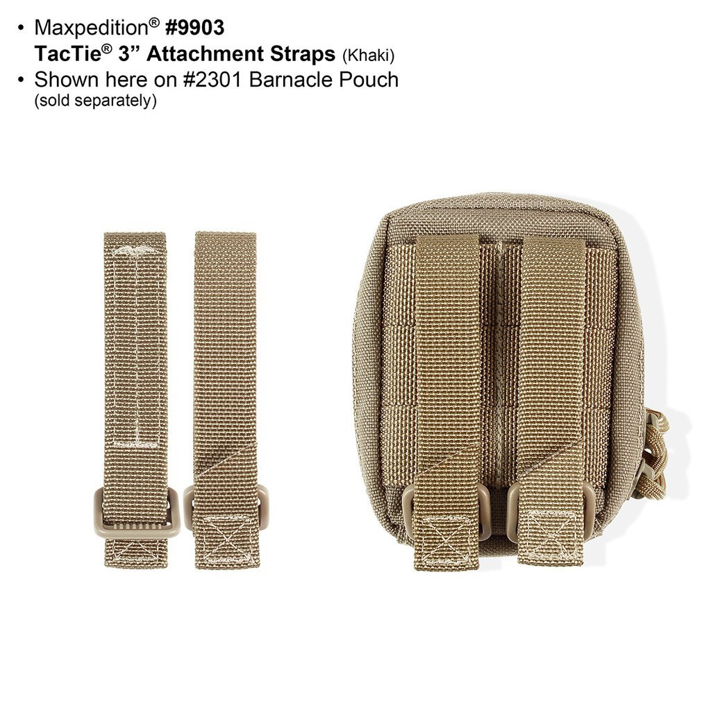 3″ TacTie Attachment Strap – 4-Pack