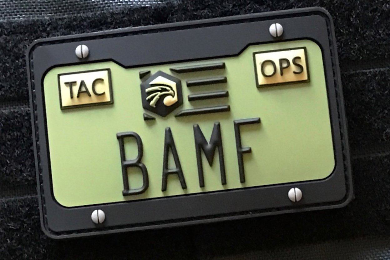 BAMF License Plate Patch