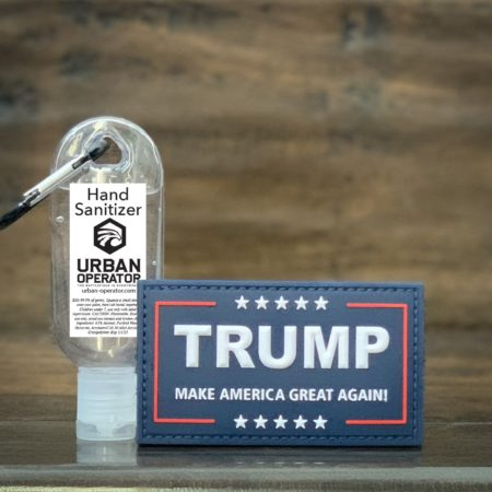Trump MAGA Patch – Original Red/White/Blue with free hand sanitizer