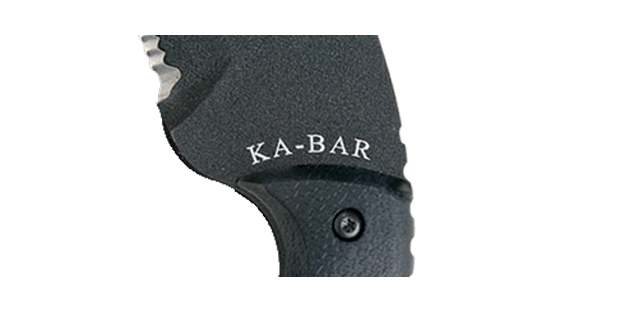 KA-BAR Large TDI Law Enforcement Tanto, Serrated Knife