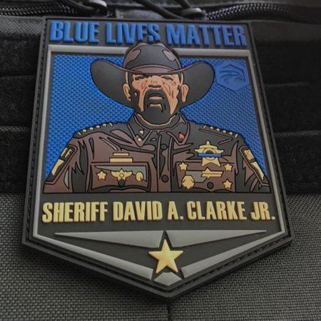 Sheriff David A. Clarke Blue Lives Matter Patch, GEN II
