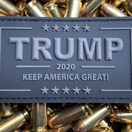 Trump Patch 2020 – PVC Black Velcro Morale Patch Stealth