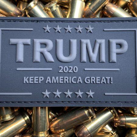 Trump Patch 2020 – PVC Black Velcro Morale Patch Stealth