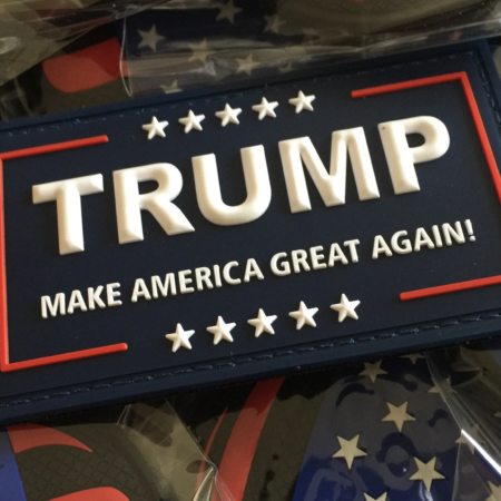 Trump MAGA Patch and Trump 2020 Patch- Original Red/White/Blue