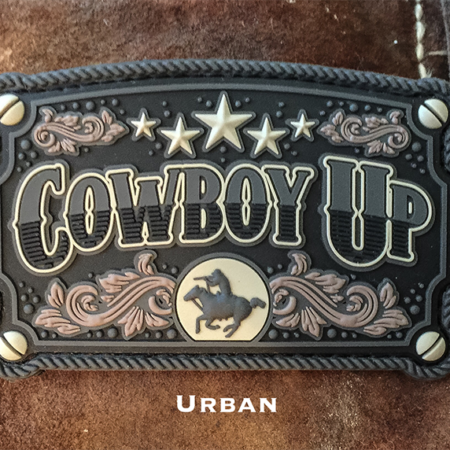 Cowboy Up Patch – Rubber, 5 Color Options!